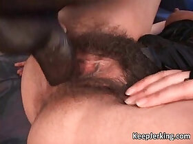 anal porn - Hot sexy busty brunette chick with hairy