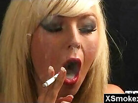 breasts porn - Wild Breasts Smoking Fetish Woman Seduced And Rammed