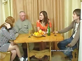 family porn - FamilySex Usual family dinner turns into a party