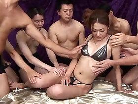 banged porn - Sakura Hirota enjoys being the centerpiece in this raunchy orgy