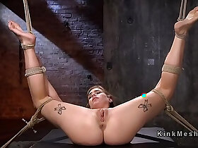 babe porn - Hogtied blonde babe whipped and flogged
