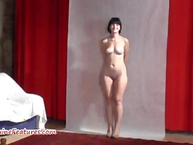 19 year old porn - 19yo cutie shows body at her first CASTING