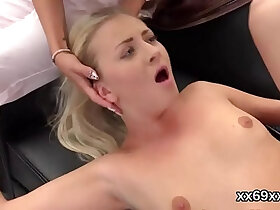 ass porn - Lover assists with hymen examination and poking of virgin kitten