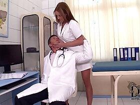 black porn - Sexy Nurse Abbie Cat Stuffs Mouth With Huge black Cocks