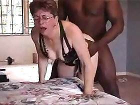 black porn - Lovely grandma from pornvideo.rodeo gets fingered and fucked by black friend