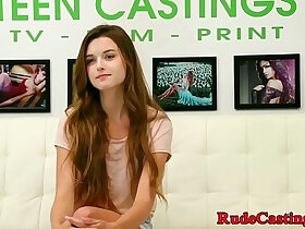 casting porn - Casting teen jizzed in mouth fucking