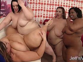 lesbian porn - Plumper lesbian orgy