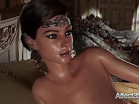 3d porn - Horny 3D Princess giving blowjob to his big cock prince