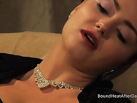 lesbian porn - Mistress Masturbating Her Pussy While Wathcing Young Slave