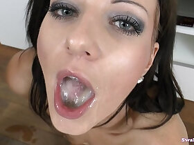 cum porn - Nathaly Cherie Looks Into Your Eyes As She Swallows