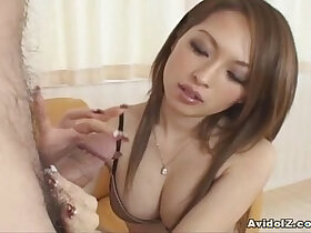 babe porn - Hot Japanese babe gives tit job follwed by cumshot Uncensored