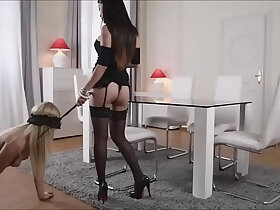 asian porn - Hot Asian Dominatrix Fucks Blonde With Strap On pornvideo.rodeo