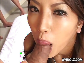 beauty porn - Gorgeous Japanese beauty sucking uncensored