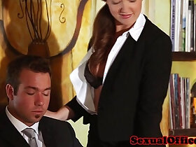 banged porn - Classy redhead officebabe banged by the boss