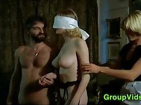 blindfolded porn - Blindfolded Blonde Pleasured In An Orgy
