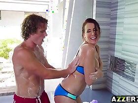 fuck porn - Horny stepmom Reagan Foxx hot fuck in the shower