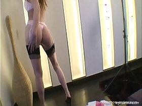 blonde porn - Gitta Blond With Pink Stockings