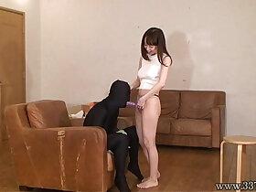 anal porn - Yuu Shinoda Strapon Anal Dildo and handjob