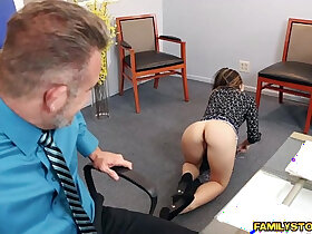 cock porn - Bambi Brooks rides her dads cock on top