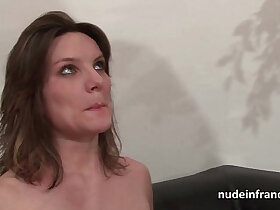 anal porn - Casting couch of a pretty small titted brunette analized by her boyfriend