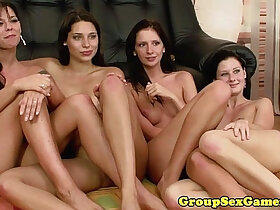 bald pussy porn - Simony Diamond in lesbian group eating pussy