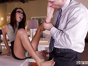 foot porn - Janice Griffith Office Mischief