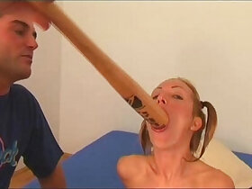 angel porn - Angela Winters playing wih bat