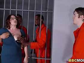 bbc porn - Busty Mom Maggie Green Takes Two BBCs in a Jail