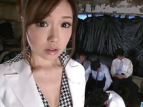 banged porn - Aiko Hirose gets fucked by all her office colleagues