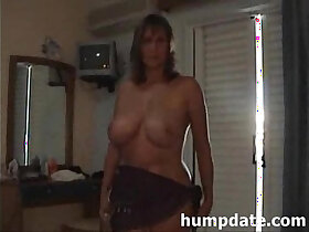 busty porn - Busty MILF sucks cock and rides on it