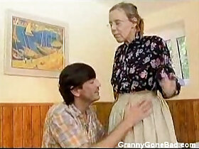 anal porn - Granny Got Her Hairy Old Ass Anal Fucked