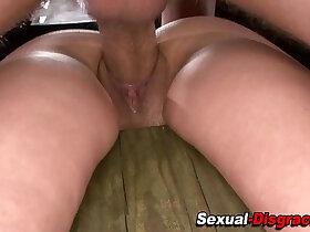 fetish porn - Gagged fetish sub fucked