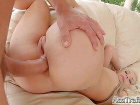 ass porn - Ass Traffic Naughty blonde loves it in the ass