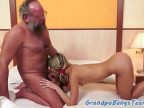 babe porn - Grandpas fucking babes compilation video