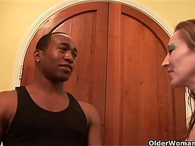 anal porn - Soccer mom Darien Ross gets anal fucked by a black big cock