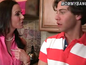 3some porn - Katie St Ives and stepmom Kendra Lust 3some in the kitchen