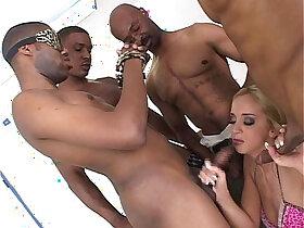 banged porn - White chick gets a big black cock bang