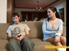 mom porn - HotCamsteen Hot stepmom helps out his stepson