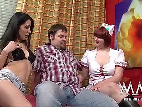 3some porn - MMV FILMS Amateur sex with creampie
