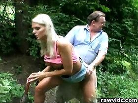 banged porn - Perv Dad Bangs Hot Blonde russian Teen At The Park