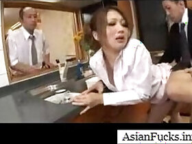 asian porn - Asian in a Maid Cosplay Takes a Load in Her Mouth, Pussy and Ass
