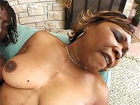 black porn - Mature ebony rides black cock