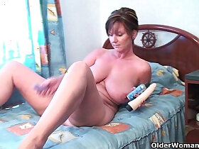 anal porn - British grannies Joy and Becky love anal play