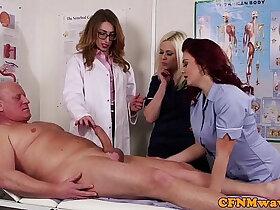 big cock porn - Femdom CFNM doctor sucking patients bigcock