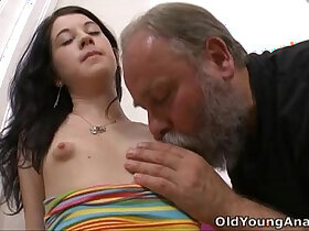 breasts porn - Olga has her breasts licked by older man
