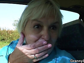 bitch porn - 80 years old bitch gets screwed in the car