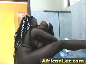african porn - African lesbians Silver Kyte fuck in the bathroom