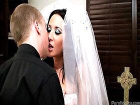 bride porn - Sexy Bride Jayden James Fucks Her Priest