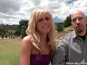 blonde porn - Blonde soccer mom lets cuckold hubby watch