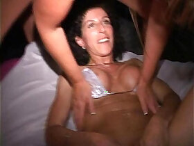 cunt porn - Orgy MILF w red head cunt hair Sucks and fucks at EXXXotica afterparty